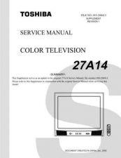 Buy TOSHIBA 27A14SUM Service Schematics by download #159776