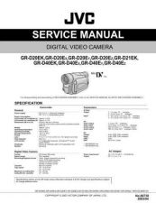 Buy JVC GR-D20EY TECHNICAL DATA by download #130752