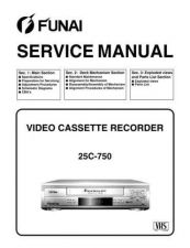 Buy Funai 25C-750 SERVICE MANUAL Manual by download #160966