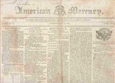 Buy CT Hartford Newspaper Title: American Mercury Date: May-24-1804~22