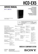 Buy SONY HCD-EX5 Service Manual by download #166950