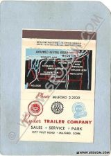 Buy CT Milford Matchcover Ryder Trailer Company 1377 Post Road w/Map Back Pane~1446