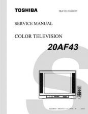 Buy TOSHIBA 20AF43 SVCMAN TV SERVICE INFO by download #129136