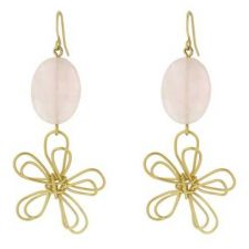 Buy Floral Motif Matte Gold Earrings