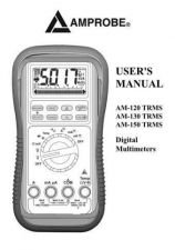 Buy Amprobe AM1280 User Instructions Operating Guide by download Mauritron #194240