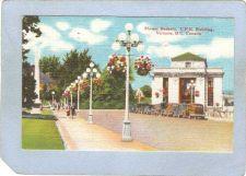 Buy CAN Victoria Postcard Flower Baskets C P R Building Street Scene w/Old Car~208