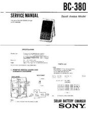 Buy SONY BC-380 Service Manual by download #166292