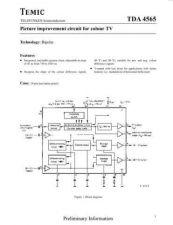 Buy MODEL TDA4565 Service Information by download #124723