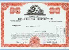 Buy DE na Stock Certificate Company: Trans-Beacon Corporation ~86