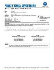 Buy Minolta 3266 ERRATIC OPERATION OF T Service Schematics by download #136589