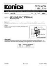 Buy Konica 02 AGITATING SHAFT BREAKAGE - DEVELOPING U Service Schematics by download