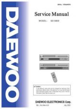 Buy DAEWOO SM SD-9800 (E) Service Data by download #150672