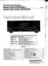 Buy Harman Kardon AVR70 SM Manual by download Mauritron #185606