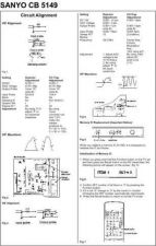 Buy SANYO CB5149 Service Manual by download #153511