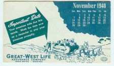 Buy CAN Winnipeg Ink Blotter Advertising Great-West Life Assurance Company blo~21