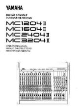 Buy Yamaha MC3204IIE Operating Guide by download Mauritron #204814