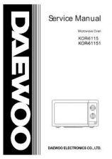 Buy Daewoo KOR63D5 MANUAL Manual by download Mauritron #184588
