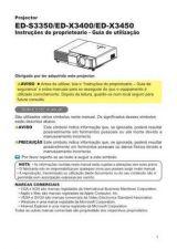 Buy Toshiba ED-X3400 ES Manual by download #172022