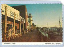 Buy CA Marina Del Rey Lighthouse Postcard Fisherman's Village w/lighhouse ligh~37