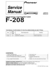 Buy PIONEER R2161 Service Data by download #149462