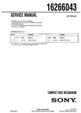 Buy SONY 16266043 Service Manual by download #166195
