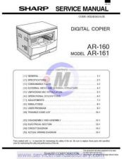 Buy Sharp AR162-163-201-206-207 SM GB Manual by download #179364