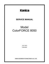 Buy Konica 8050SM Service Schematics by download #135673