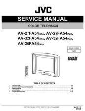 Buy JVC AV-32FA54 Service Schematics by download #155360