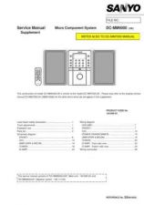 Buy Sanyo DC-MM7000-01 Manual by download #173930