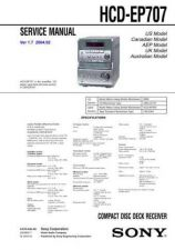 Buy SONY HCD-EP707 Service Manual by download #166945