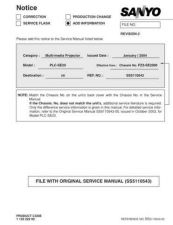 Buy Sanyo PLC-EF12-01 Manual by download #174742