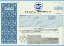 Buy DE na Stock Certificate Company: Rovac Corporation The ~70
