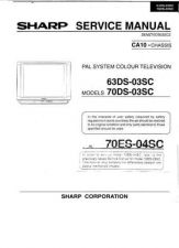 Buy SHARP SHARP 70DS-03SC CCT Service Manual by download #157953