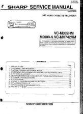 Buy MODEL SHARP VCM332 VCMH742 Service Information by download #124483