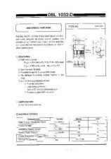 Buy INTEGRATED CIRCUIT DATA DBL1032DJ Manual by download Mauritron #186777