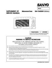 Buy Sanyo EM-V5404SSW(SM) Manual by download #174390