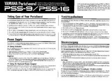 Buy Yamaha PSS16E Operating Guide by download Mauritron #205074