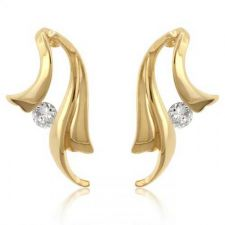 Buy Solitaire Winged Earrings
