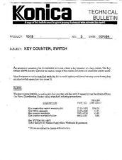 Buy Konica 03 KEY COUNTER SWITCH Service Schematics by download #135838