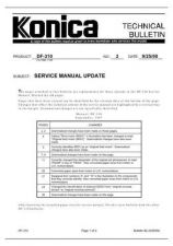 Buy Konica 02_SERVICE_MANUAL_UPDATE Service Schematics by download #135824