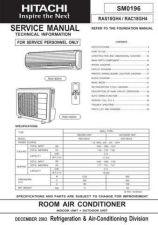 Buy HITACHI SM 0196E Service Data by download #147472