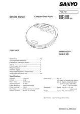 Buy Sanyo CDP-450 Manual by download #172829