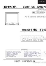 Buy Sharp 21HS50C PG GB(1) Manual by download #169778