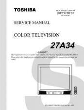 Buy TOSHIBA 27A34SUMREV1 Service Schematics by download #159783