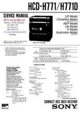 Buy MODEL SONY HCDH771 HCDH771D Service Information by download #124542