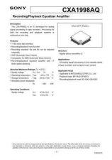 Buy MODEL CXA1998 Service Information by download #124022