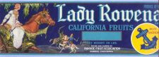 Buy CA Ivanhoe Fruit Crate Label Lady Rowena Brand California Fruits~11