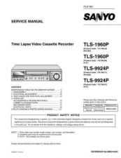 Buy Sanyo Service Manual For TLS-9924P Manual by download #176043
