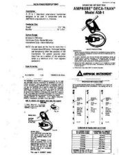 Buy Amprobe A501 User Instructions Operating Guide by download Mauritron #194124