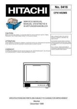 Buy Hitachi CPX1402MS Manual by download #170926